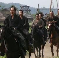 No time for horseplay: Samurai Shimada Shinzaemon (Koji Yakusho), Hirayama (Tsuyoshi Ihara) and Shinrouko (Takayuki Yamada) lead a gang of ronin on horseback in 'Jusannin no Shikaku (13 Assassins).' | © 2010