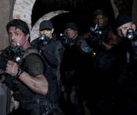 Movie muscle: Sylvester Stallone leads an all-star cast of yesteryear in 'The Expendables.' | © 2010 ALTA VISTA PRODUCTIONS, INC