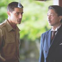 Postwar piece: Matthew Fox stars as Gen. Bonner Fellers (left) in director Peter Webber's 'Emperor,' a film set in postwar Japan.   Joining Fox in the cast is Masatoshi Nakamura as Prince Fumimaro Konoe (right). | FELLERS FILM LLC 2012 ALL RIGHTS RESERVED