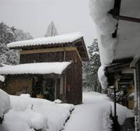 Snow falls at the Kinoshita Shuzo brewery in Kyotango, Kyoto Prefecture. | PHILIP HARPER PHOTO