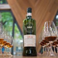 Tasting by numbers: A bottle of 119.10 (above) from the Scotch Malt Whisky Society. Four times a year, the SMWS selects exceptional casks from among 125 collaborating distilleries, the contents of which are bottled and marked only by a code and a tongue-in-cheek tasting not | WILL ROBB PHOTOS