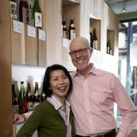 Making a great pair: Hiroko Furukawa and Rick Smith at their sake store Sakaya in New York City. Furukawa says 'We wanted to pair sake with non-Japanese food, not just because we are selling to a non-Japanese market, but also because we don't cook Japanese food all the time.' | ANTHONY NAGELMANN