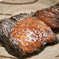 Buri no yu-an zuke (yellowtail marinated in yuzu, sake and soy sauce) — see recipe
