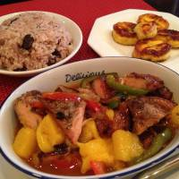 Fruity: The mango chicken at Caribbean restaurant JamRock. | REBECCA MILNER