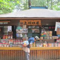 Kamikawaguchi-ya, the dagashi-ya (old-fashioned sweet shop) at Toshima Ward's Kishibojin Temple, sells such goodies as Caplico and ramune, guaranteed to tickle the nostalgia buds of Japanese of a certain age. | NOBUKO TANAKA
