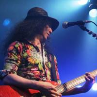 Rocking out: Kyoji Yamamoto, the guitarist behind of the Japanese rock bands Bowwow and Vow Wow, has performed around the world, and lived in the U.K. and the United States. | PHOTOS COURTESY OF KYOJI YAMAMOTO