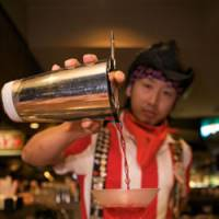 Salut!: Keisuke Goto rounds off a show at TGI Friday's. | WILL ROBB