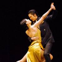 Art decorous: Tangoistas Takashi and Megumi (above) and Akito and Aja (below) perform during the 6th Tango Dance World Championship in Asia held in Tokyo this month.
