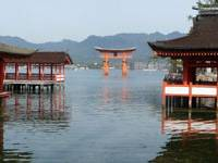 Shrine therapy: Some of the Clipper Odyssey's cultural tours of Japan took in the atom-bomb museum in Hiroshima, after which it was restorative to visit the nearby Itsukushima Shrine World Heritage Site at Miyajima (left).
