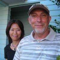 Bob White with his wife Kazuyo in front of their home in Zushi, Kanagawa Prefecture | ANGELA JEFFS