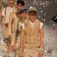 Star quality: Models parade in Takeshi Osumi's mainstream menswear creations for Phenomenon.   WILL ROBB PHOTO