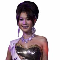 Girl power: Haruna Ai on the way to victory in the Miss International Queen 2009 transvestite beauty pageant in Pattaya, Thailand.   AP