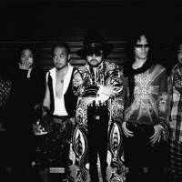 Sixth session: The members of Soil & 'Pimp' Sessions are (from left): Tabu Zombie, Akita Goldman, Motoharu, Shacho, Josei and Midorin. The group's sound is comprised of explosive beats that have led them to coin the term 'death jazz' to describe the genre.