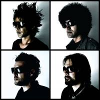 Primal team: Muddy Apes is a rock supergroup comprised of (clockwise from top left): Inoran from Luna Sea, Maeson from 8otto, Taka Hirose from Feeder and Dean Tidey, who was a touring guitarist for Feeder. They recorded their latest album, 'Fairy Dirt No.5' in spring in order to have it finished for this year's Fuji Rock Festival.