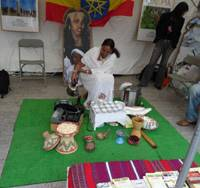 Special brew: A woman performs a Ethiopian coffee ceremony.