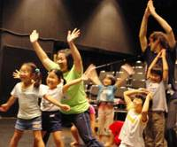 Summer fun: Kids take part in last year's Kansai workshops.