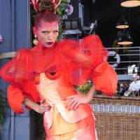 Rock lobster: Fashion label Romance Was Born attempts crustacean couture in this lobster-inspired piece at the Rosemount Australia Fashion Week in Sydney.