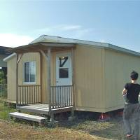 Trailer house: A mobile home, like this one in Ibaraki Prefecture, may be very basic in terms of design, but it does have the advantage of offering property-tax-free living. | PHILIP BRASOR