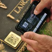 Virtually immortal: QR codes make it easy for friends and families of the deceased to access a personalized legacy Web page with the help of any smart phone or smart device. | AFP-JIJI