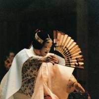 The woman's plight: Kiyotaka Imai performs the lovelorn spirit Matsukaze in the noh play 'Matsukaze.' | COURTESY OF KIYOTAKA IMAI