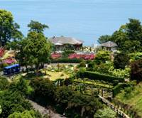 A view of the Akao Herb and Rose Garden at the high-class spa resort Hotel New Akao Royal Wing in Atami.