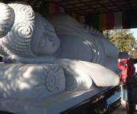 Deep sleep: A reclining Buddha next to Koshoji Temple in Uchiko. | JEFF KINGSTON