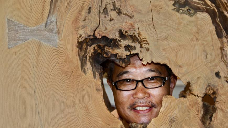 Ingrained appeal: Masahiro Miyajima, owner of wood-products firm Kukunoki.