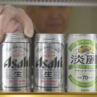 Suds to go: Shipments of regular beer dipped 1.9 percent in the first half of 2013, while those of 'happoshu' low-malt beer dropped 6.3 percent. Shipments of the beerlike 'third category beer' rose 2.7 percent over the same period. | BLOOMBERG