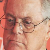 One in a billion: Billionaire David Koch attends the Time 100 Gala, a celebration of Time magazine's 100 most influential people in the world, in New York in April. | BLOOMBERG