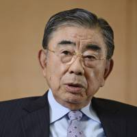 Toshifumi Suzuki, chairman and chief executive officer of Seven & I Holdings, is interviewed in Tokyo on May 30. | BLOOMBERG