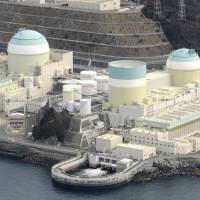 Before it's too late: Shikoku Electric Power Co.'s nuclear plant in Ikata, Ehime Prefecture, is seen in March. | KYODO