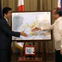 Abe offers maritime help for Philippines amid China row