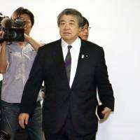 Under fire: All Japan Judo Federation Chairman Haruki Uemura heads to an extraordinary board meeting Tuesday. | KYODO