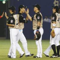 Fighters end six-game slide with offensive outburst