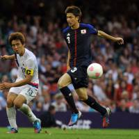 Youth movement: Cerezo Osaka midfielder Takahiro Ogihara (right) is one of five London Olympians in Japan's squad for the East Asian Cup starting Saturday in South Korea. | AFP-JIJI