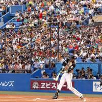 Front and center: Shohei Otani did a little bit of everything during the first two games of the All-Star Series. | KYODO
