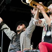 Fuji Rock: Japan's Soil & 'Pimp' Sessions ground the audience in their trademark 'death jazz' at the Field of Heaven on Friday. | JAMES HADFIELD