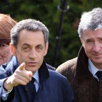 Rejected:  Then-French President Nicolas Sarkozy visits a winery in  Vouvray with his campaign treasurer, UMP lawmaker Philippe Briand, during a campaign stop in April 2012. | AFP-JIJI