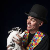Safe from harm: Magician Marty Hahne has a prepared a plan detailing how he would protect Casey the rabbit in the event of various doomsday scenarios. | JULIE DENESHA/THE WASHINGTON POST