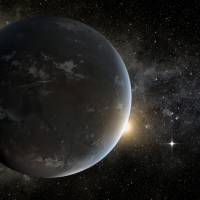 An illustration of an exoplanet that was detected by NASA's Kepler spacecraft.   AP