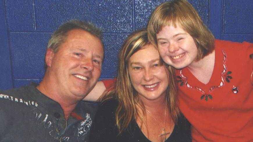 Independent minded: Margaret Jean 'Jenny' Hatch, 29 (right), wants to live with friends Jim Talbert (left) and Kelly Morris. But the parents of Hatch, who has Down syndrome, believe she belongs in a group home.