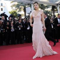 Silk road: South Korean actress Gianna Jun on the red carpet at the 64th Cannes Film Festival in Cannes, in 2011. Jun is one of an elite group of bankable Asian names attracting the attention of the fashion world. | AFP-JIJI