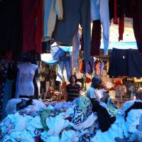 "Change your clothes, change your mind: Yamaguchi Center for Arts and Media is currently showing artist Yoshinari Nishio's ""Pubrobe,"" which is described as a station where people can lend and borrow clothes for free."