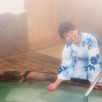 In hot water: There's no better way for a woman to shake off the summer chills than to take a hot bath. | ASHINARI