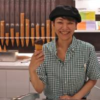 Ice to meet you: The new Tokyo branch of Milan's Gelateria Marghera serves artisan gelato with a smile. | ROBBIE SWINNERTON
