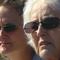 Silvia (left) and her mother visit Red Rock Canyon State Park in the Nevada desert in 2005.   COURTESY OF SMARTGIRL PRODUCTIONS LLC