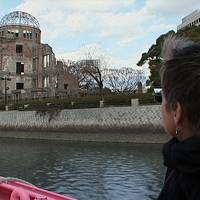 During a 2006 visit to Hiroshima, Silvia looks toward the A-Bomb Dome. | COURTESY OF SMARTGIRL PRODUCTIONS LLC