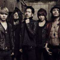 Circle pit bosses: The members of Crossfaith (L-R: Tatsuya Amano, Hiroki Ikegawa, Kenta Koie, Kazuki Takemura and Terufumi Tamano) are preparing to head out on tour in support of their new album 'Apocalyze.'