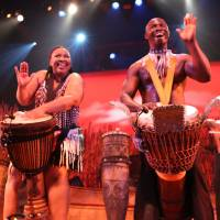 African group drums up a party