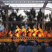 Island party: Dancers perform at a previous Enoshima Bali Sunset event.
